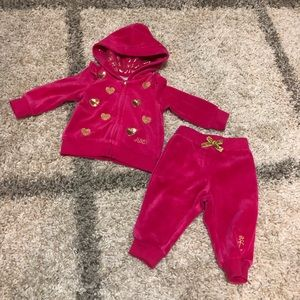 Baby Girl Juicy Couture Pink Track Suit